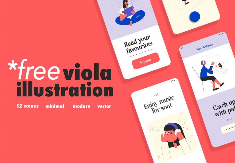 free-viola-illustration