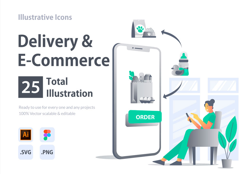 Illustrations-Delivery-&-e-commerce
