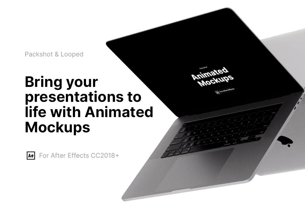 macbook mockup animated