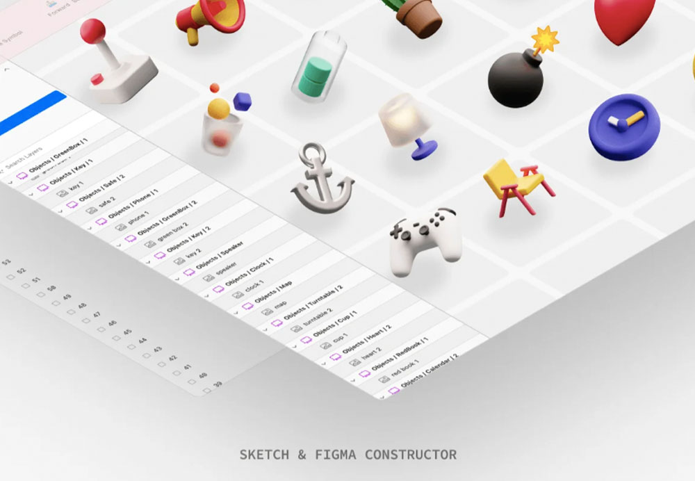 3d elements in Figma or Sketch