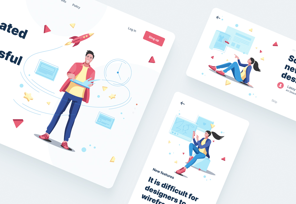 ui illustrations in canvas devices