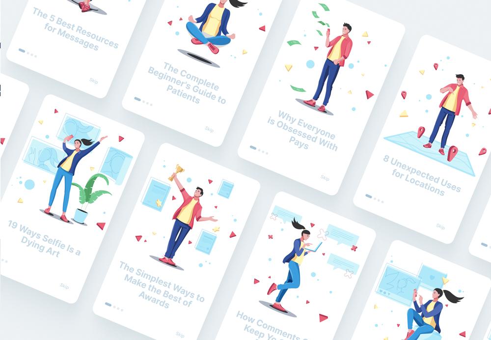 interfaces illustrations people