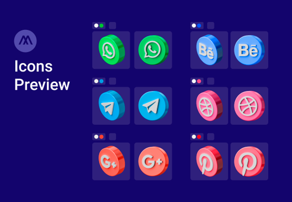 social media icons preview 2