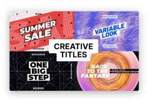 titles motion pack template creative