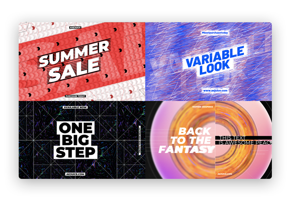 creative titles motion after effects templates