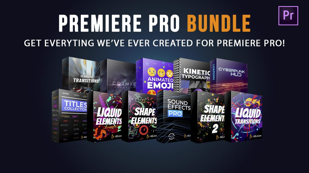 bundle of packs animated elements preview