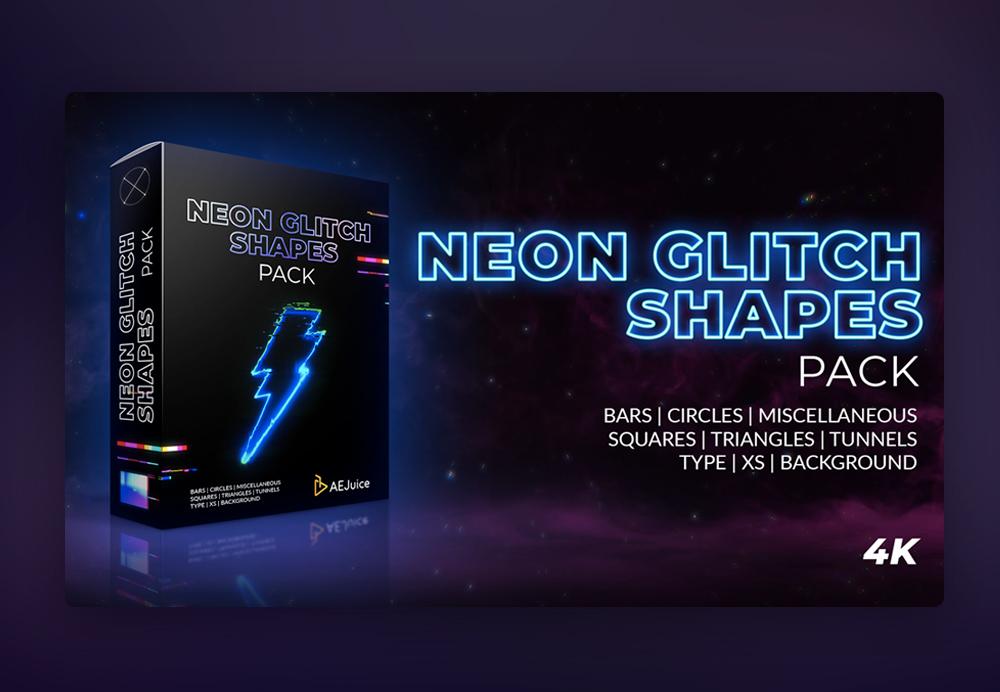 neon glitch shapes thumbnail
