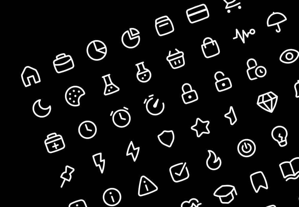 outline icons for ui design